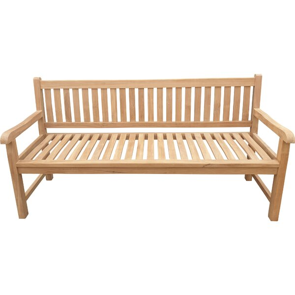 Jan Solid Wood Garden Bench by Highland Dunes