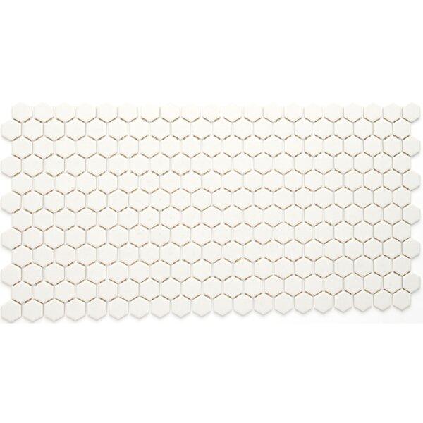 Dalton 12 x 24 Porcelain Mosaic Tile in Biscuit by Itona Tile