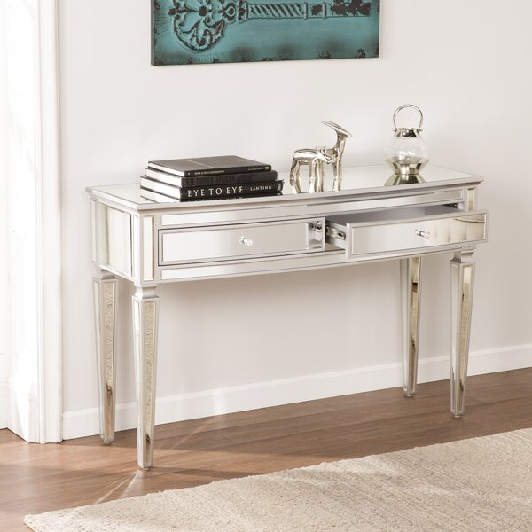 Elosie Mirrored Console Table by House of Hampton