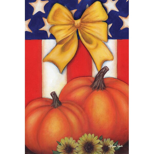 Patriotic Fall 2-Sided Garden flag by Toland Home Garden