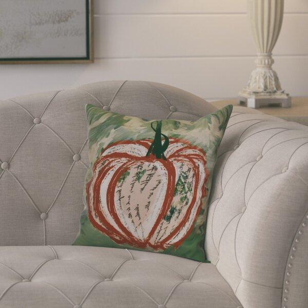 Ames Artistic Pumpkin Geometric Throw Pillow by August Grove