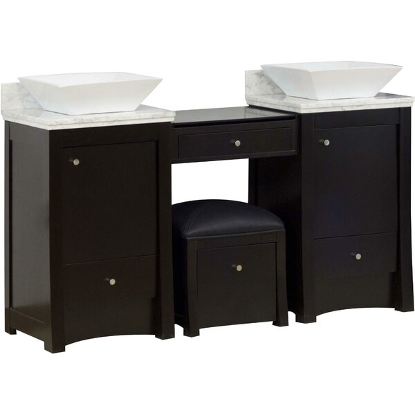 Sharples 61 Double Bathroom Vanity Set