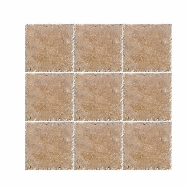 Chiseled 6 x 6 Travertine Field Tile in Noce by Parvatile