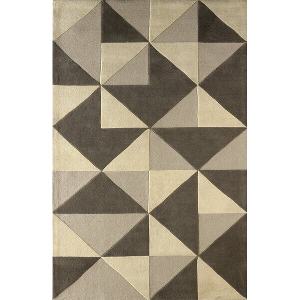 Lueras Hand-Tufted Soot Area Rug by Brayden Studio