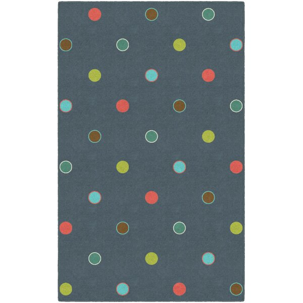 Dan Polka Dots Gray Area Rug by Ebern Designs