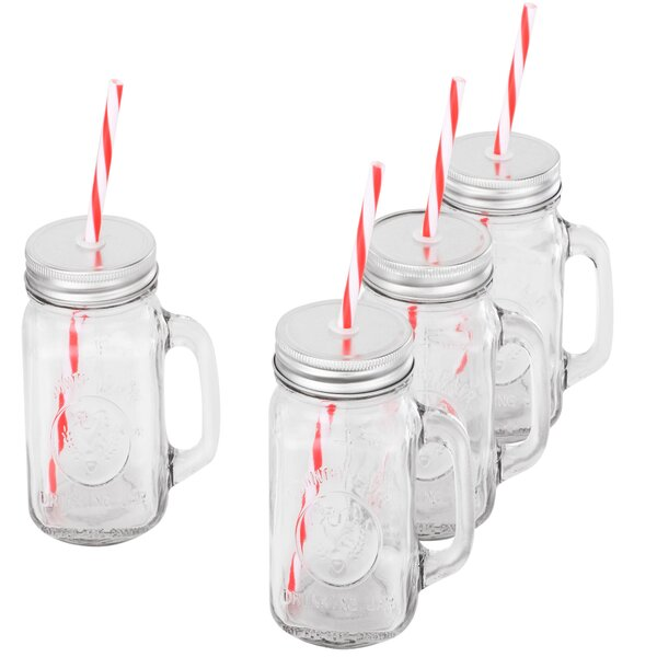 Mason Glass Drinking Jar (Set of 4) by VonShef