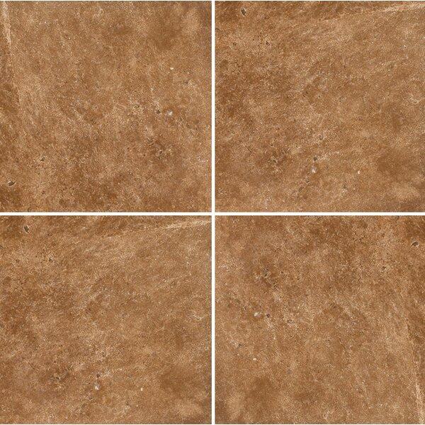 12 x 12 Travertine Field Tile in Dark Walnut Honed by Parvatile