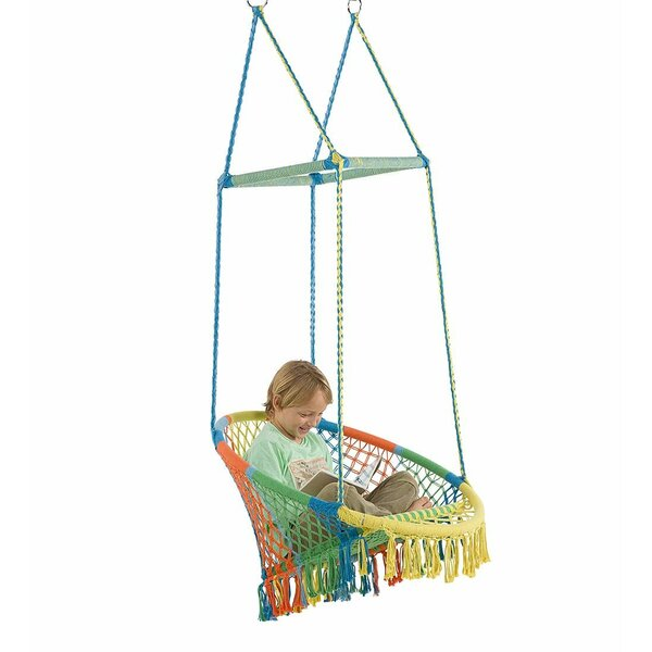 Hammock Chair with Woven Seat and Macrame Knots by Magic Cabin