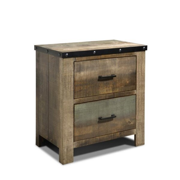 Zager 2 Drawer Nightstand by Millwood Pines