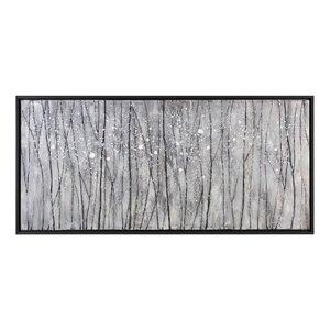 Snowfall Modern Landscape Framed Painting Print by Wade Logan