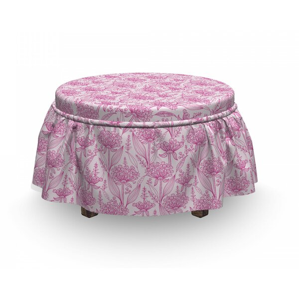 Spring Bloom Ottoman Slipcover (Set Of 2) By East Urban Home