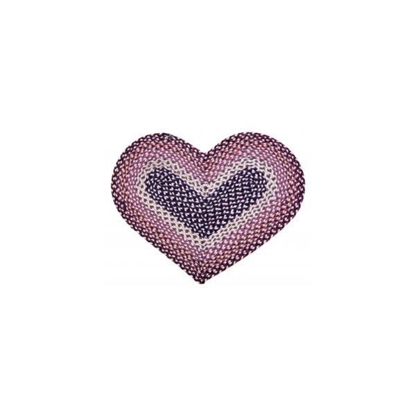 Braided Heart Kitchen Mat
