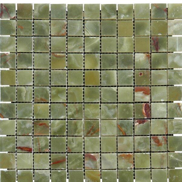 Onyx 1 x 1 Onyx Mosaic Tile in Green by MSI