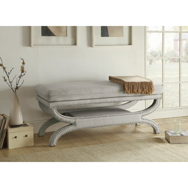 Imane Accent Upholstered Bench by Bungalow Rose