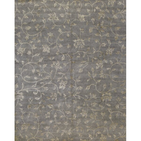Himalayan Floral Hand-Knotted Green Area Rug