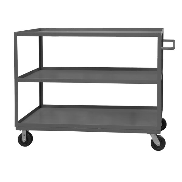 48 H x 36 W x 24 D 14 Gauge Steel Rolling Service Stock Cart by Durham Manufacturing