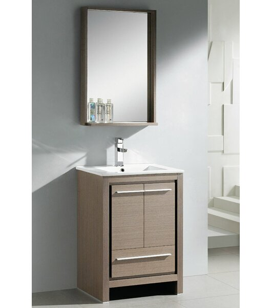 Allier 24 Single Bathroom Vanity Set with Mirror by Fresca