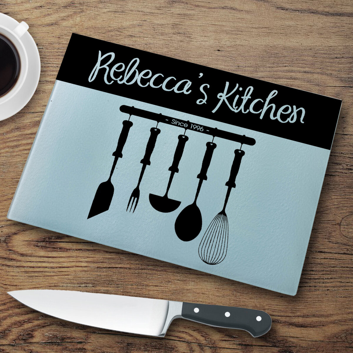 JDS Personalized Gifts Personalized Glass Cutting Board & Reviews ...