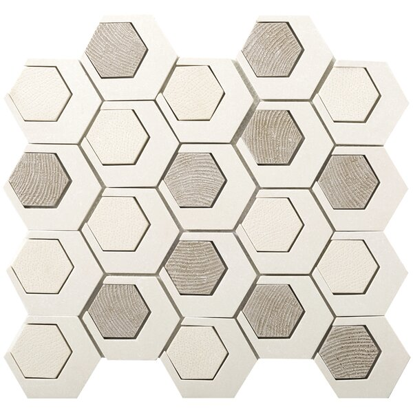 Catalyst 3 x 3 Stone Mosaic Tile in Pluto by Emser Tile