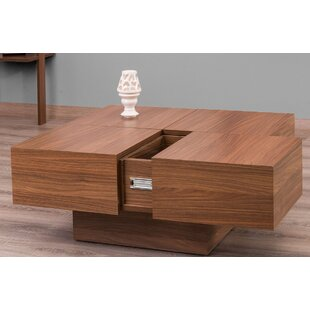 Morris Lacquer Coffee Table with Storage Orren Ellis