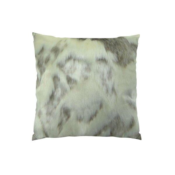Rabbit Fur Handmade Throw Pillow by Plutus Brands