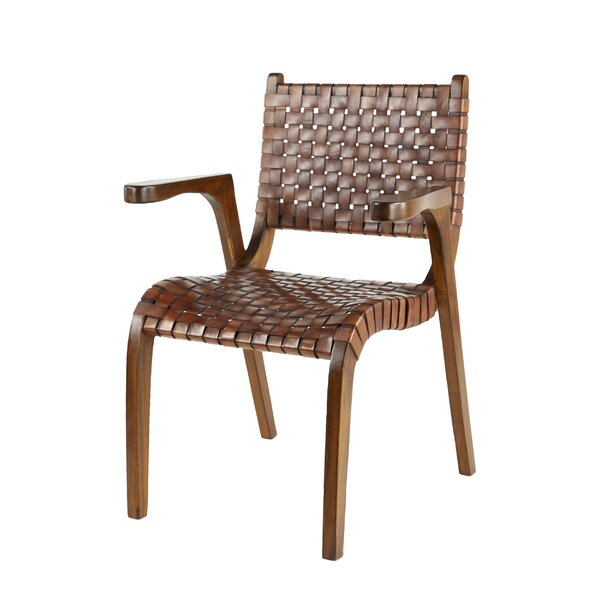 Demorest Genuine Leather Upholstered Dining Chair by Foundry Select