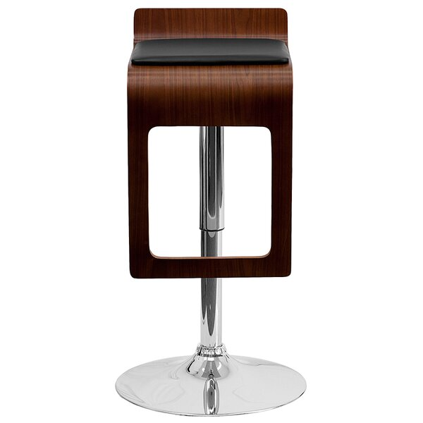 Merrick Adjustable Height Swivel Bar Stool (Set of 2) by Wrought Studio