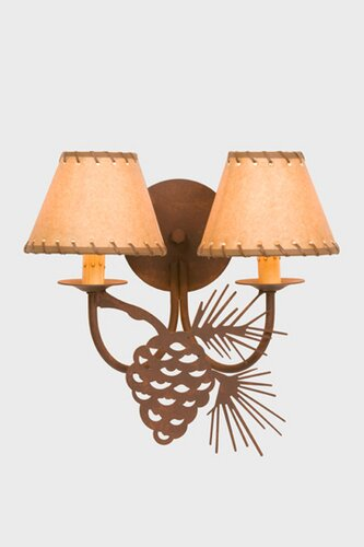 Pinecone 2-Light Candle Wall Light by Steel Partners