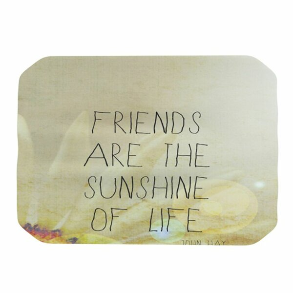 Friends Sunshine Placemat by KESS InHouse