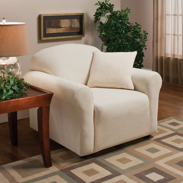 Stretch Microfleece Box Cushion Armchair Slipcover by Madison Home