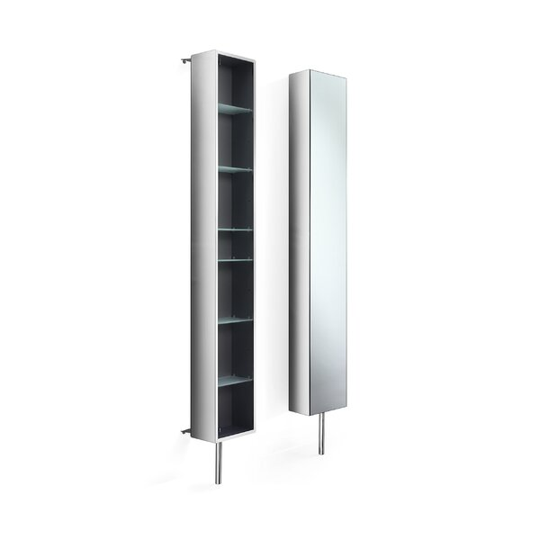 Linea 9.8 W x 72 H Wall Mounted Cabinet by WS Bath Collections