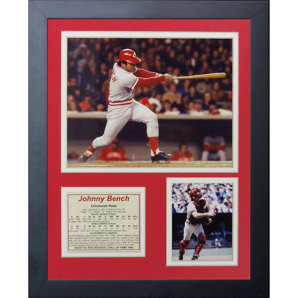Johnny Bench - Swing Framed Memorabilia by Legends Never Die