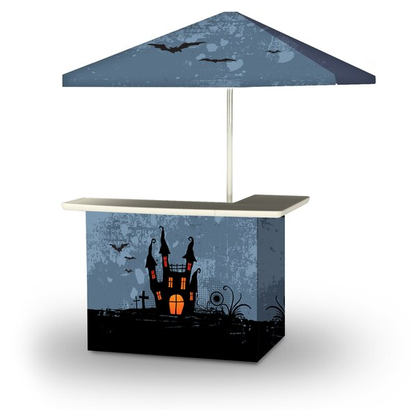 Zaha Halloween Haunted House 2-Piece Home Bar Set by East Urban Home