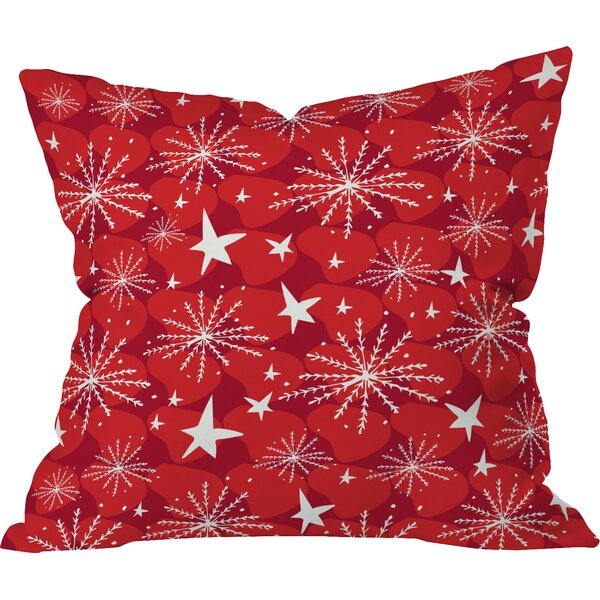 Julia Da Rocha Snow and Stars Indoor Throw Pillow by Deny Designs