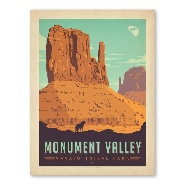 National Park Monument Valley Vintage Advertisement by Americanflat