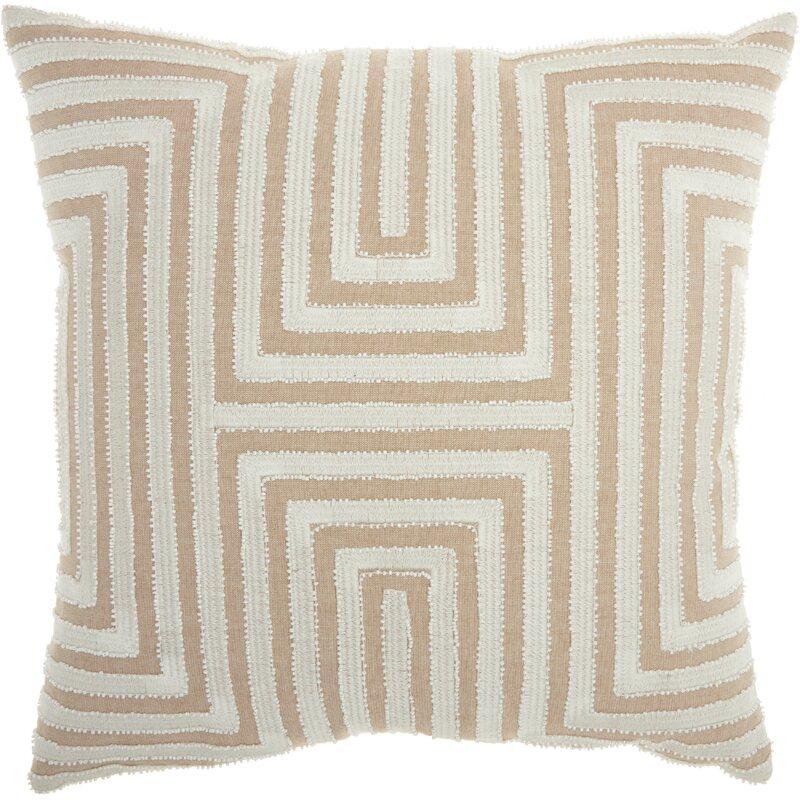 modern geometric throw pillow