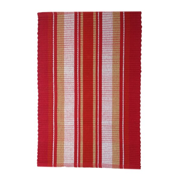 Boswell Handmade Red Area Rug by Highland Dunes
