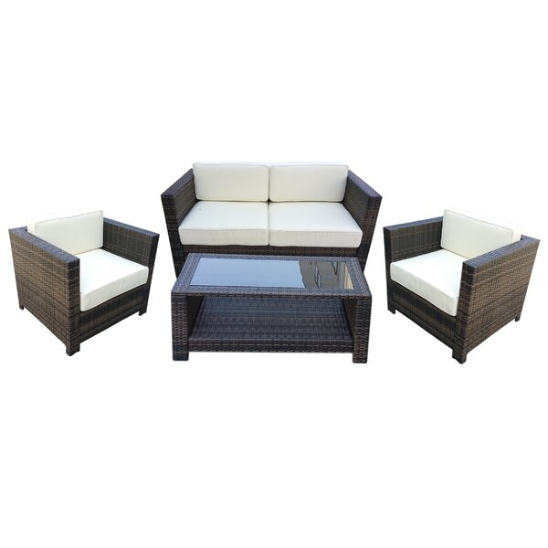 4 Piece Sofa Set with Cushions by Attraction Design Home