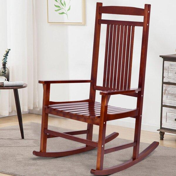 Willingham Wood Rocking Chair by Breakwater Bay