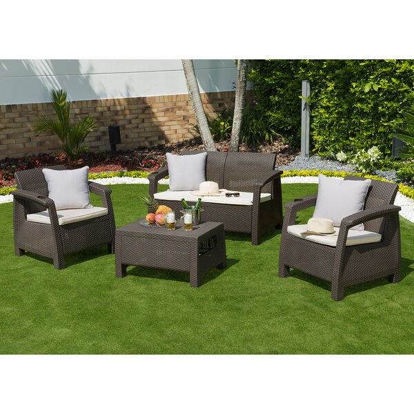 Escolta 4 Piece Sofa Seating Group with Cushions by Canora Grey