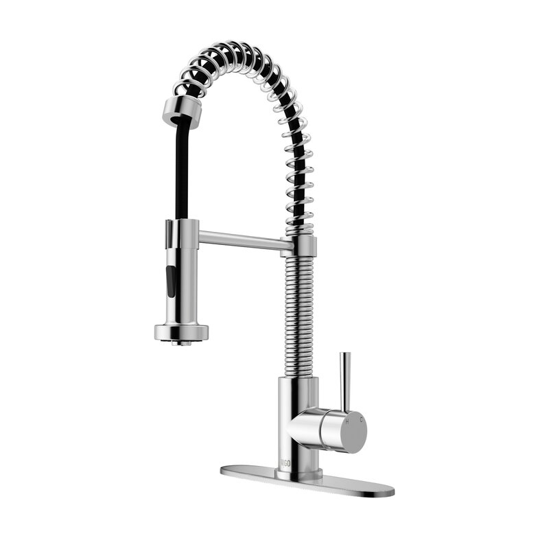 VIGO Edison Pull Down Single Handle Kitchen Faucet & Reviews | Wayfair