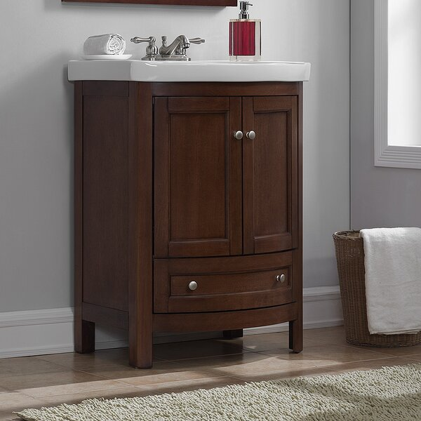 Brook Hollow 24.6 Single Bathroom Vanity Set by Charlton Home