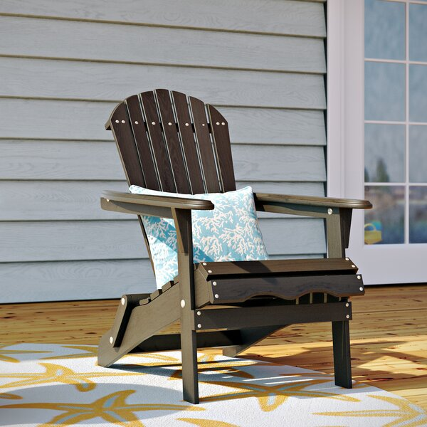 Cuyler Solid Wood Folding Adirondack Chair by Beac