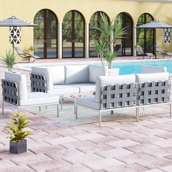 Darnell 7 Piece Sofa Set with Cushions by Brayden Studio