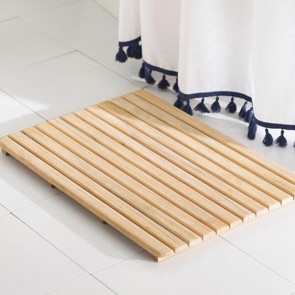 Emeric Multiple Teak & Wood Bath Rug