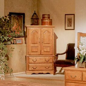 Home Décor Country Heirloom Armoire In Medium Finish