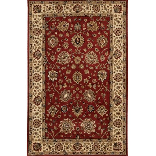 Curland Brown/Red Area Rug by Darby Home Co