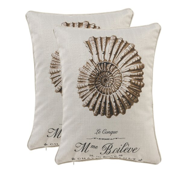 Conch Shell Lumbar Pillow (Set of 2) by 14 Karat Home Inc.