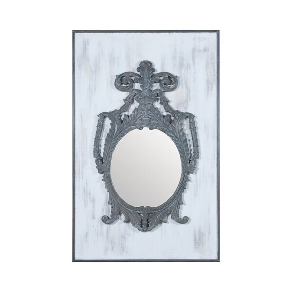 Antique Smoke White Accent Wall Mirror by One Allium Way