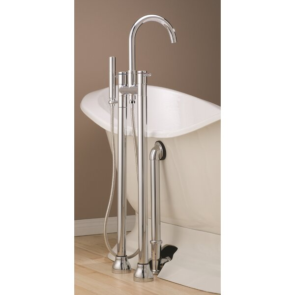 Double Handle Floor Mounted Clawfoot Tub Faucet Trim with Diverter and Handshower by Cheviot Products Cheviot Products